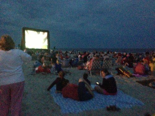 Movie on the beach!