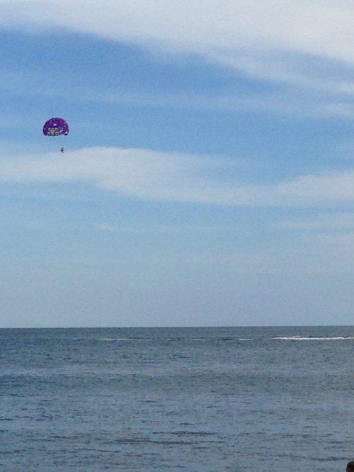 AJ (Aunt Julie) parasailing!