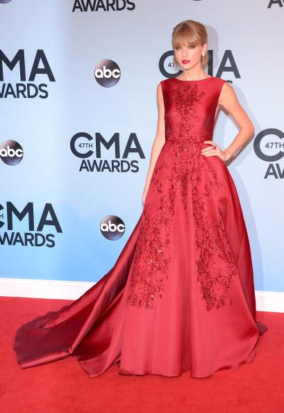 Taylor Swift. She looks flawless, but this is not my favorite look.