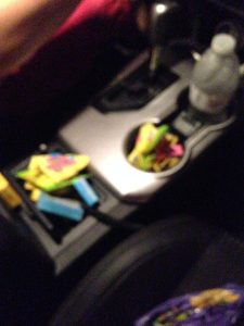 Mike is terrible. Took plenty of candy for his ride home.