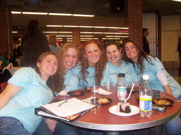 Here we are in 2007 at one of our sorority events!