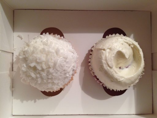 We saved these for until we got home! A coconut for Mom & a red velvet for me :)