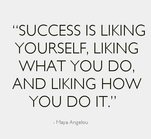 Maya Angelou success quote