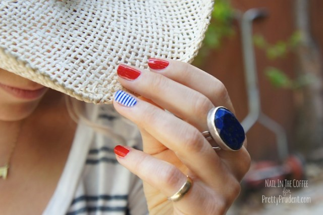 May be the cutest little accent nail ever - from Pretty Prudent.