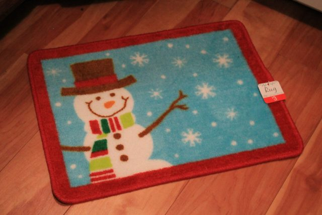 This adorable snowman floor mat was only $3