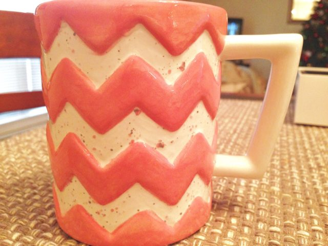 Remember when Lauren & I went to paint mugs?! Here's the finished product!