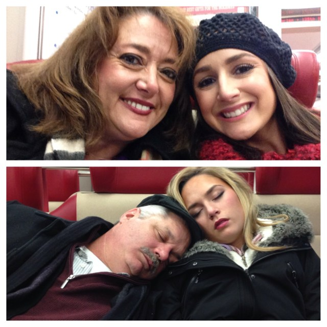We took the train into the city in the last afternoon. Mom & I were bright eyed... Dad & Kath, not so much haha.