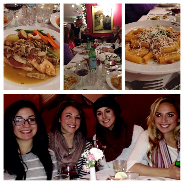 We met up with my cousins for dinner at Pelligrino's - which was amazing! We were stuffed to the brim.