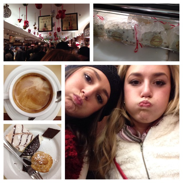 Since we weren't too stuffed (lies) we went to Ferraro's and had some yummy Italian pastries & warm beverages.