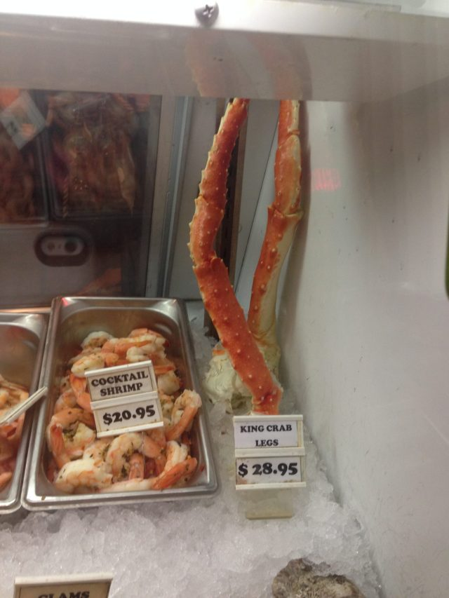 THE biggest crab legs I'd ever seen!