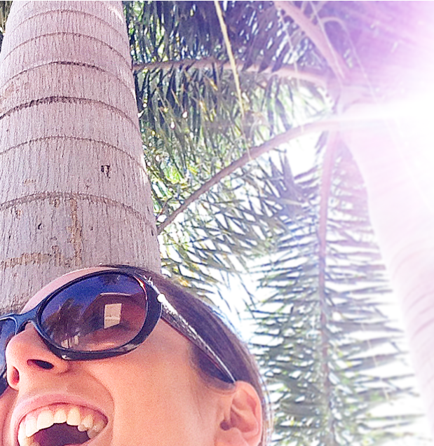 I got caught red handed trying to take a selfie under the palms :)