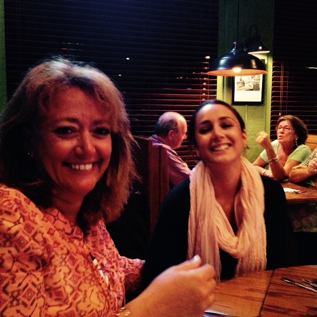 Snapshot of my Mom & I at dinner