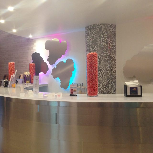 A specialty popcorn store where we got to sample the most random, but mostly delicious flavors!