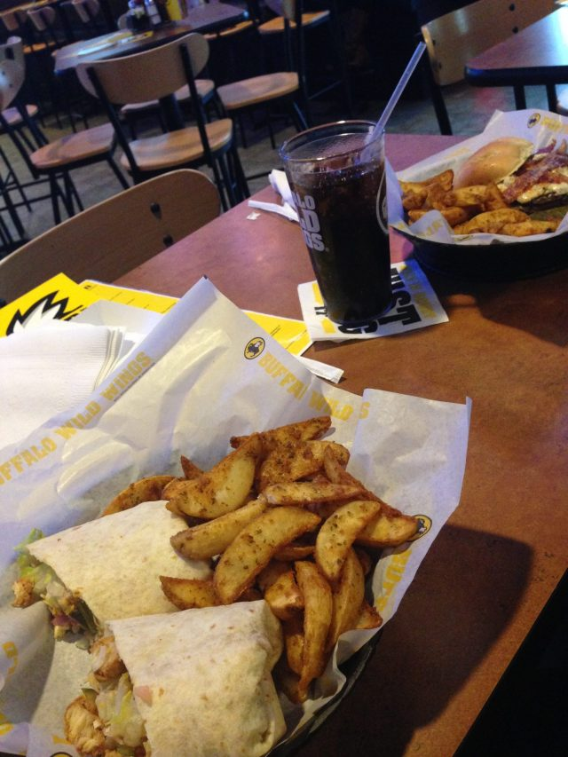 Break for lunch! My first Buffalo Wild Wings experience