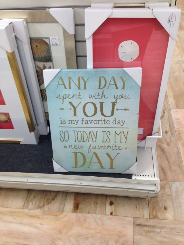 Shopping for some wall art & I came across this adorable gem :)