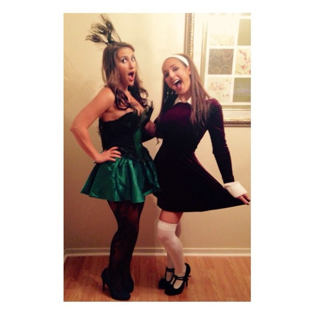 Me and my Halloween partner in crime + fabulous roomie! :)