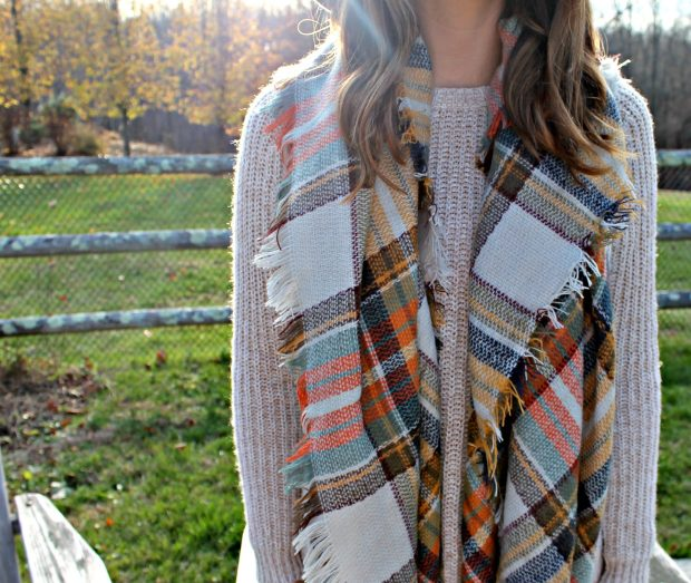 KnitPopShop Fall Blanket Scarf