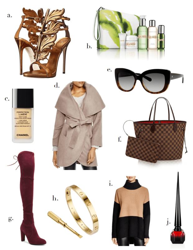luxury christmas list