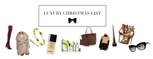 luxury christmas list banner
