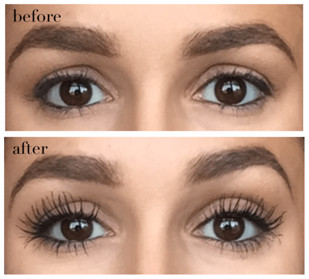 marc jacobs beauty velvet noir mascara before after