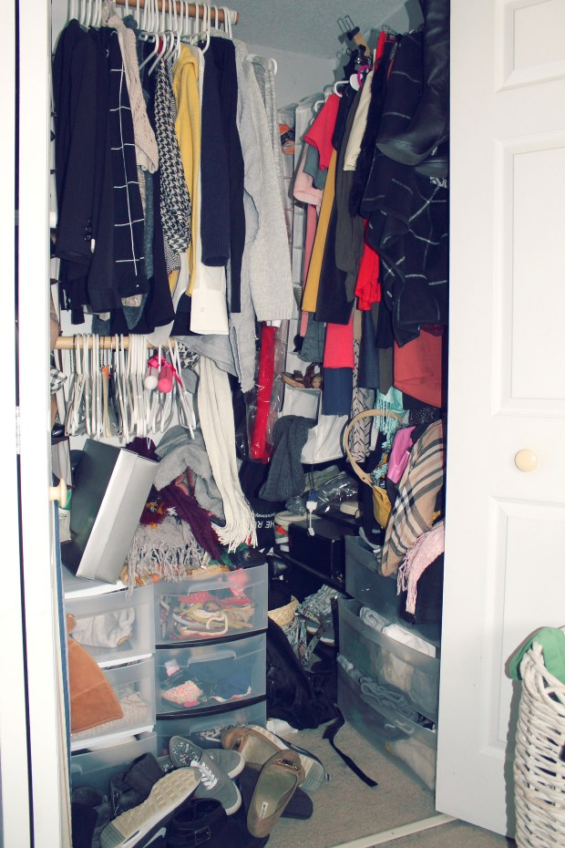 UGH this is closet is an embarrassing hot mess at the moment!