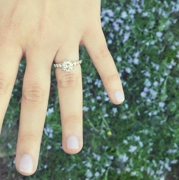 Please take a moment to admire this gorgeous ring of hers! I am so happy for my girl!!! :)