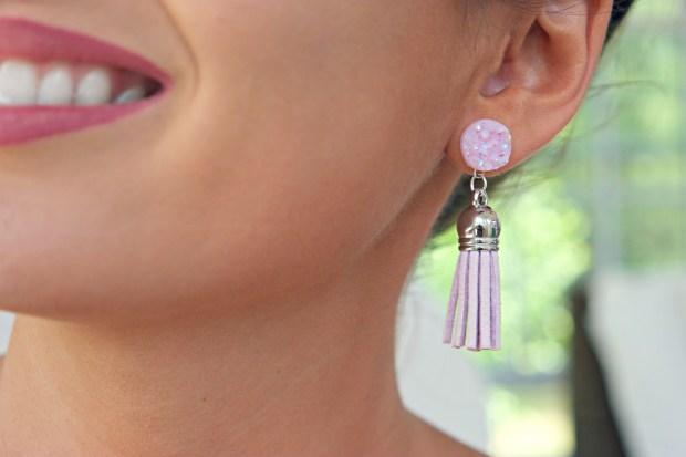 the shinn life tassel earring