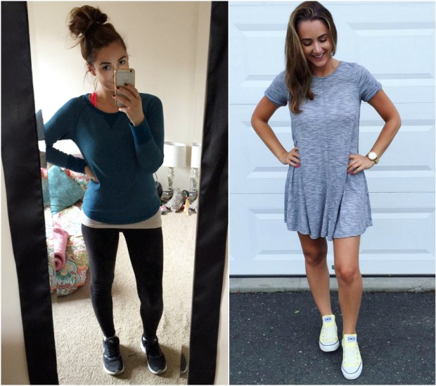 Wanna guess which day I went better for me?! Each outfit was equally as easy + comfortable to wear...but one of them gave me way more confidence than the other!