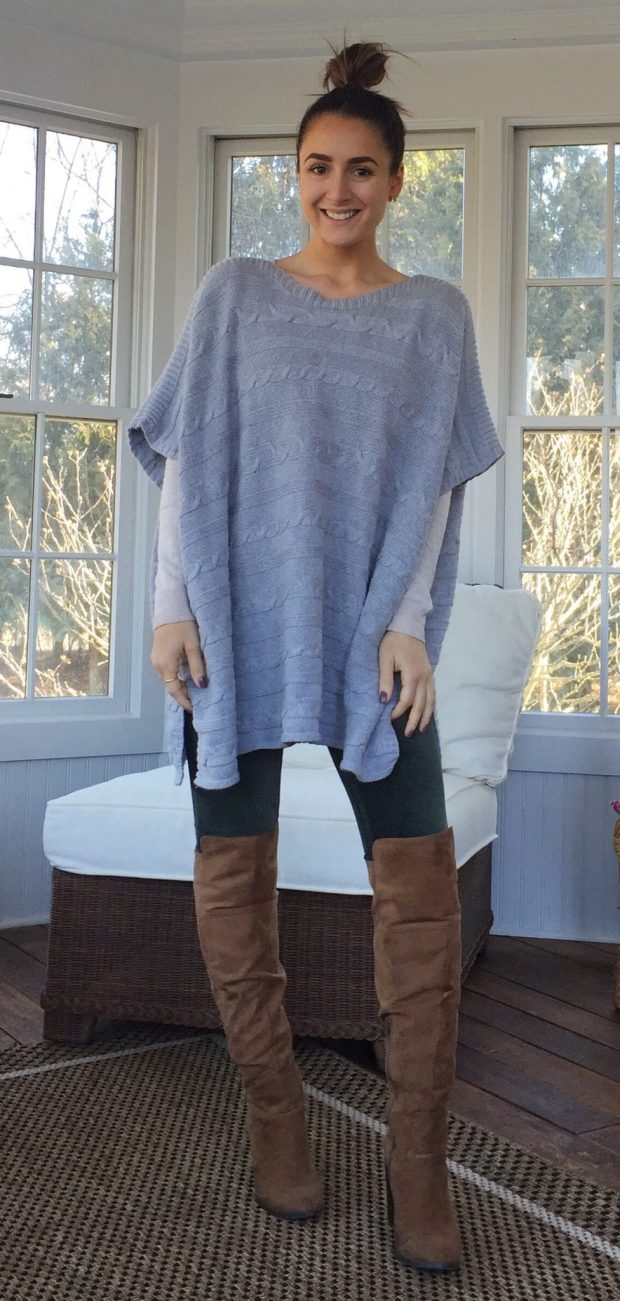 Corduroy leggings // Sweater // Boots
