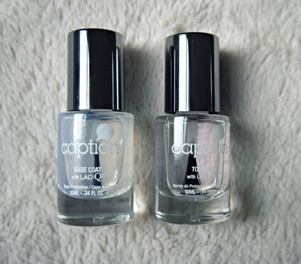 caption polish base and top coat