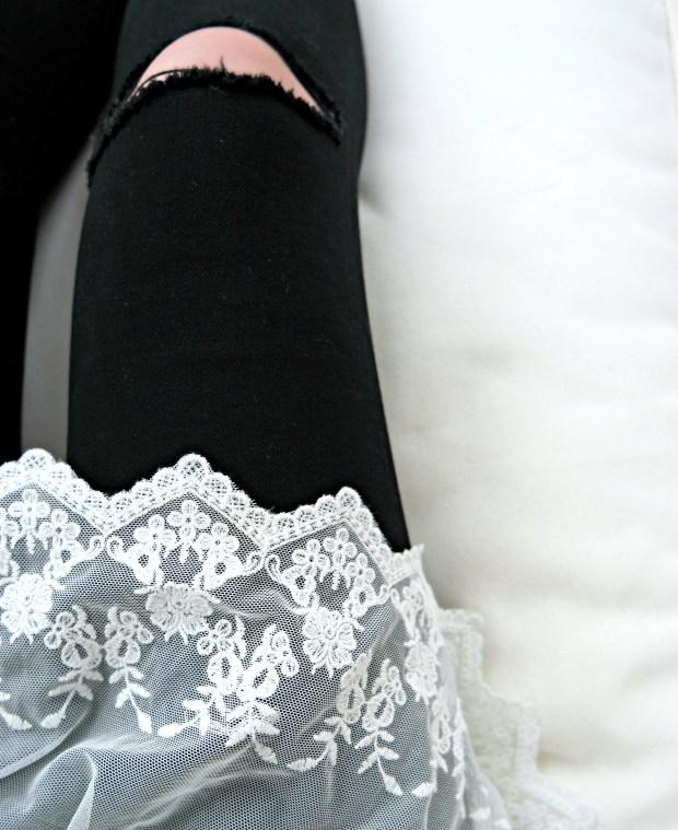 abercrombie distressed black denim