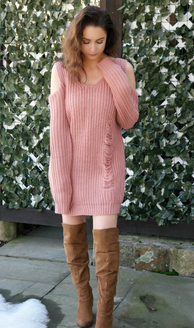 shein-oversized-cold-shoulder-sweater-dress