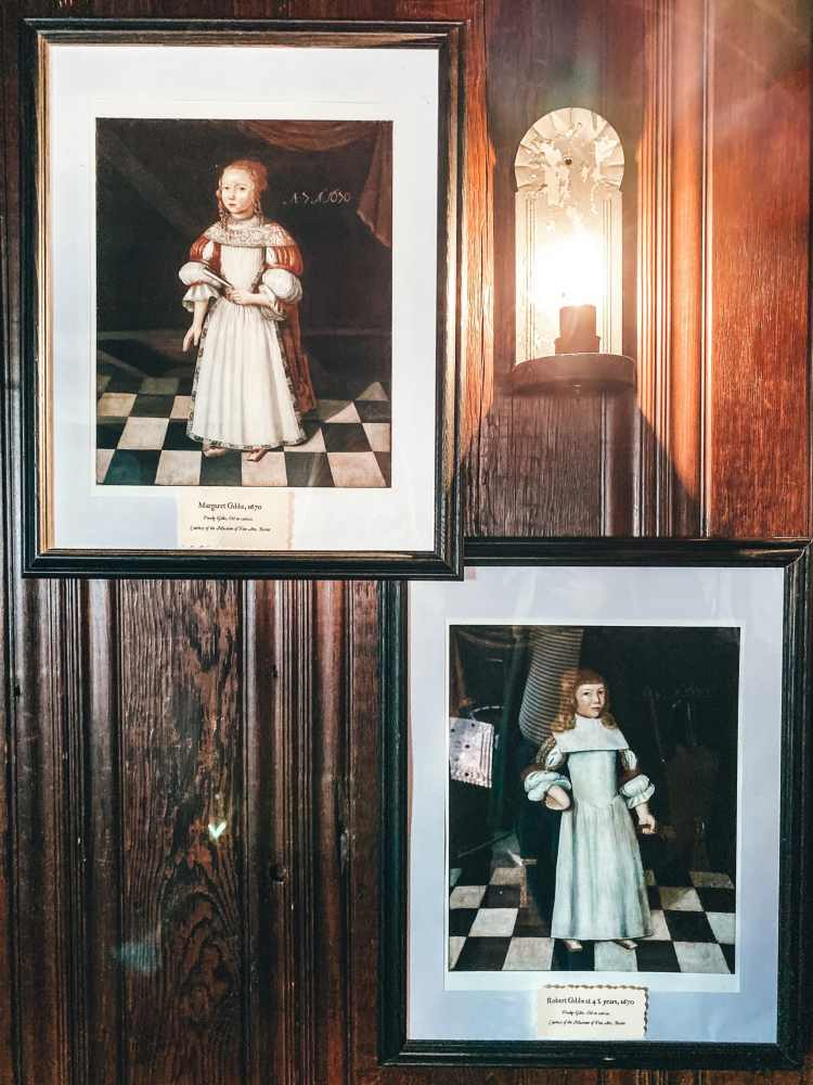 Old portraits from Witch House in Salem
