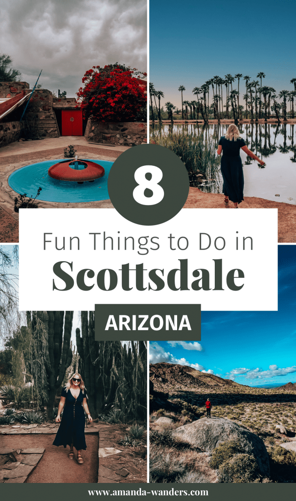 Pin cover for Things to Do in Scottsdale blog post 2