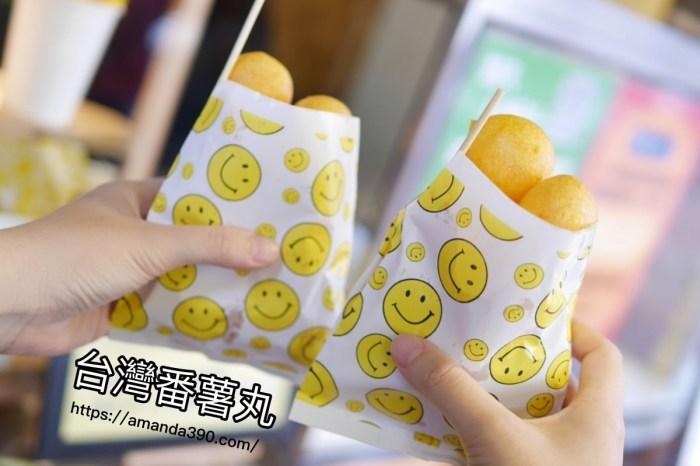 台南美食『台灣番薯丸-手作地瓜球』小吃萌創意,七種口味任你選!台南中西區|台南小吃
