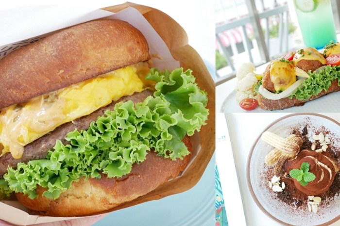 純白系絕美咖啡館『BMS café』好吃又好拍手作牛肉蛋堡推薦!台南早午餐|台南美食