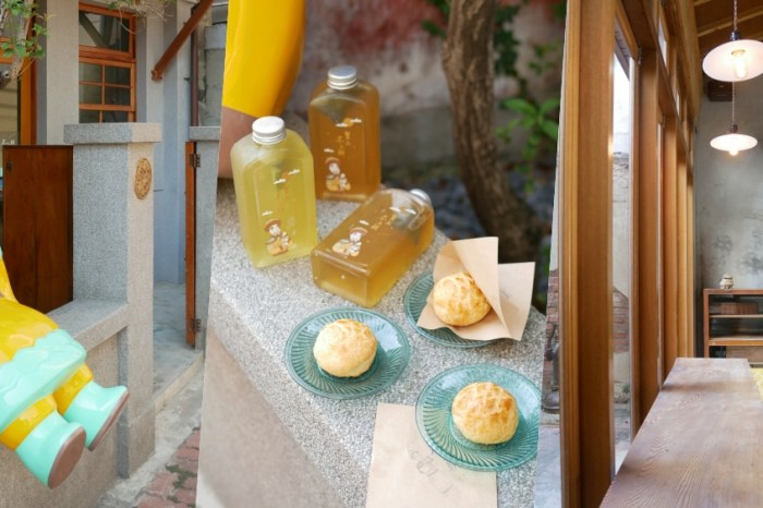 Q版皇上駕到『皇上不上朝』每日現烤菠蘿蛋黃酥茶食組合美味酥香!台南下午茶|台南中西區