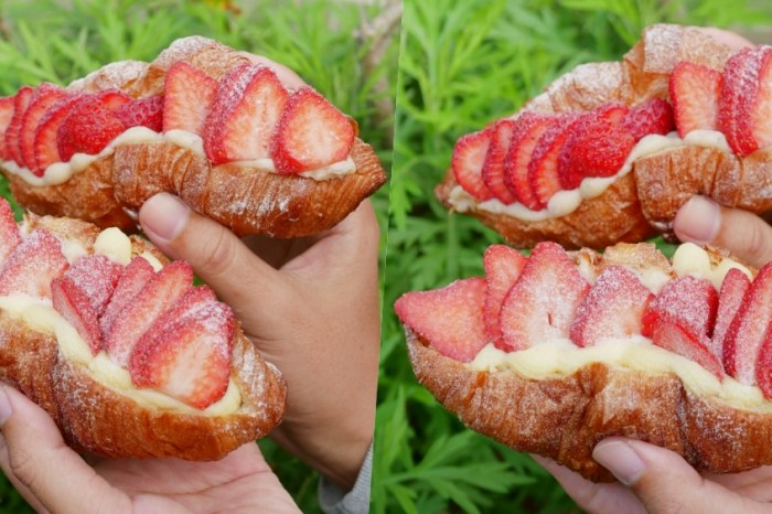 冬季限定草莓可頌來啦!『小公主的棒棒糖』隱身於巷弄的少女系早餐店。台南仁德區 台南早午餐(202012更新)