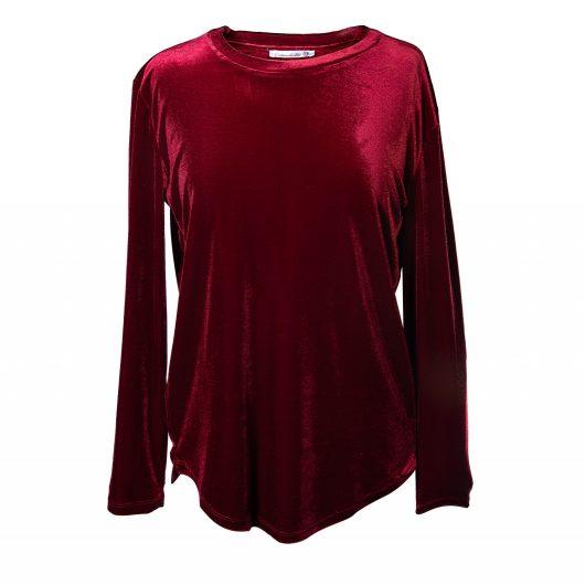 Open Back Velvet Tunic 2XLarge - Red