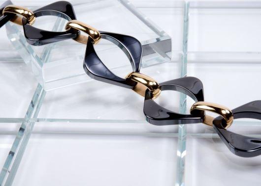 Ceramiqué Black/Gold Mezzo Bracelet