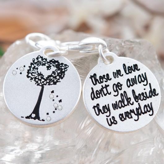 Silver 1-Tone Medallion - Heart Tree