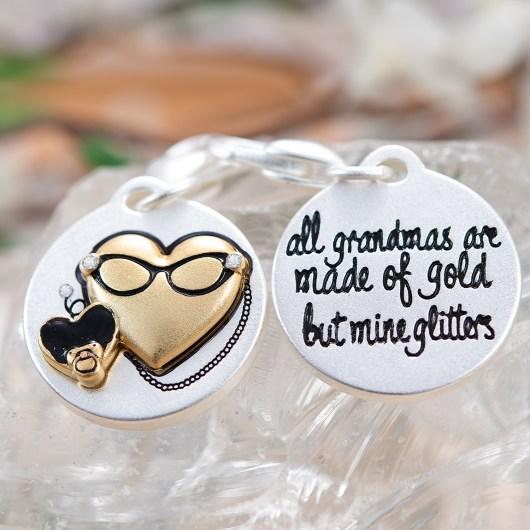 Silver 2-Tone Medallion - Glitter Grandma