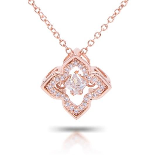 Quatrefoil Necklace - Rosegold