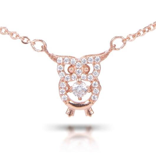 Owl Necklace - Rosegold