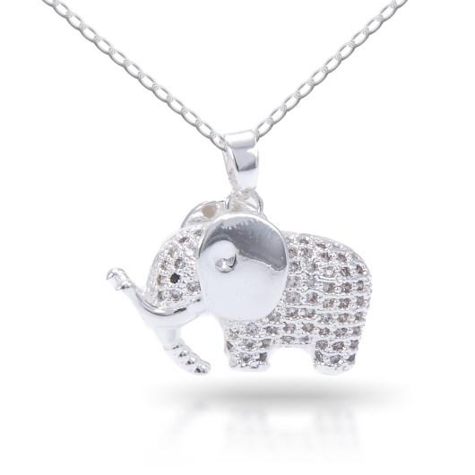 Elephant Necklace - Silver