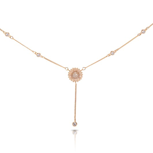 Daisy DropChain Necklace - Gold