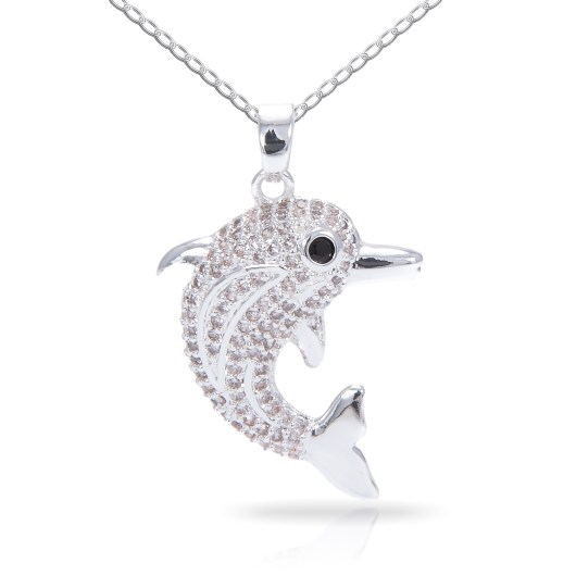 Dolphin Necklace - Silver