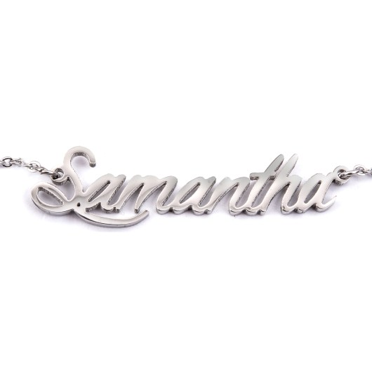 Stainless Steel Name Necklaces - Samantha