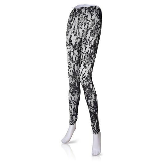 Fashion Leggings - Black Snake