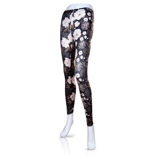 Fashion Leggings - Beige Floral